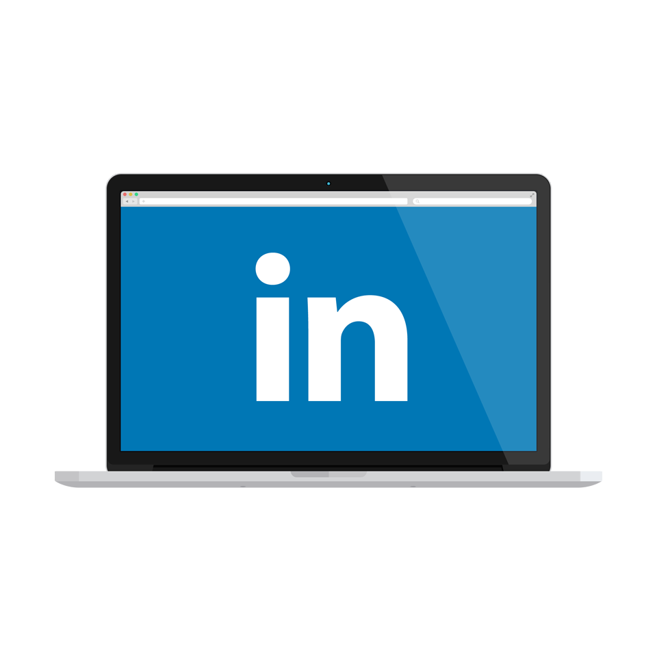 LinkedIn on laptop